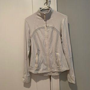 Lululemon white track jacket size 4